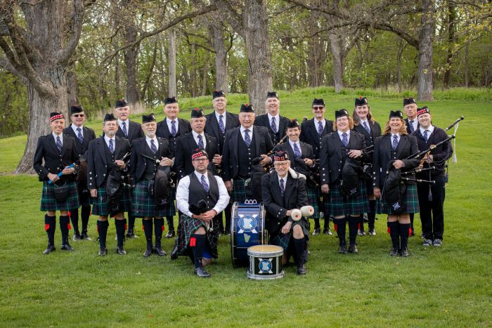 Rochester Caledonian Pipe Band Band Photo
